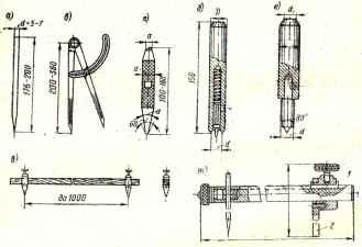 Чертежный инструмент для разметки стальных конструкций Инструмент для разметки и наметки а чертилка